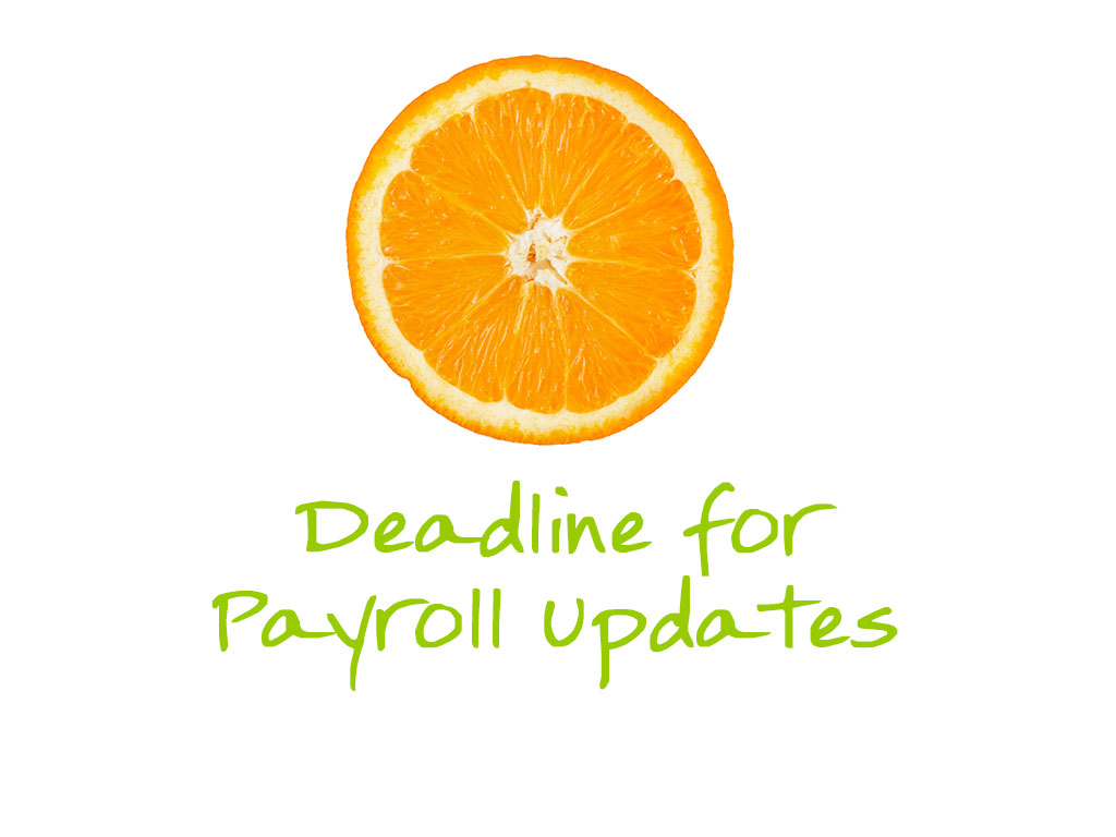 Deadline for payroll updates