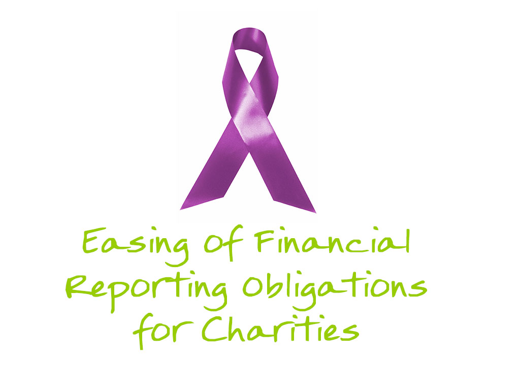 Easing of Financial Reporting Obligations for Charities