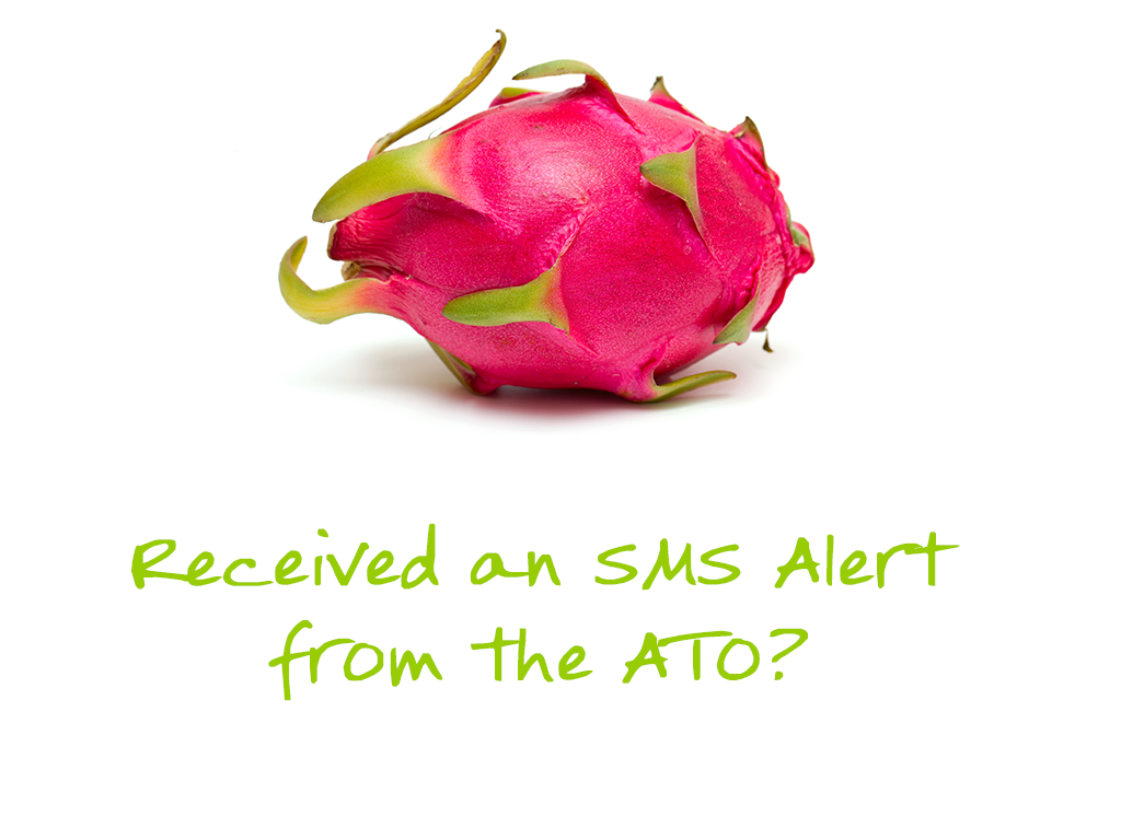Received an SMS alert from the ATO