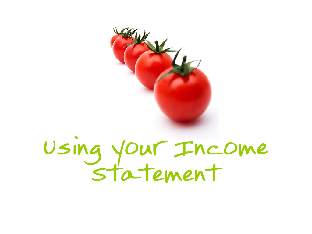 Using your income statement copy